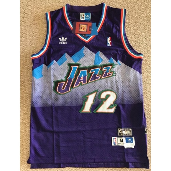 best website 6d76c 5b138 John Stockton Utah Jazz Jersey NWT